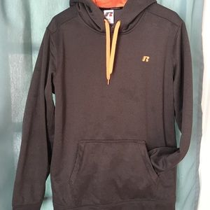 Russell gray and orange hoodie